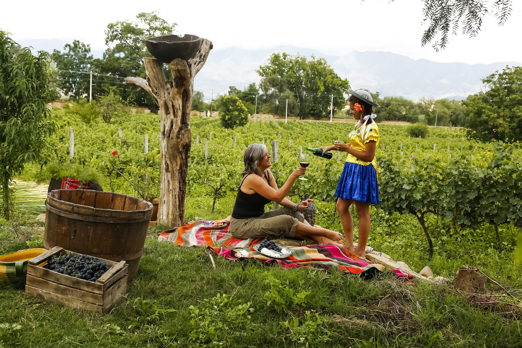 Wine-tasting in Otavalo, Ecuador