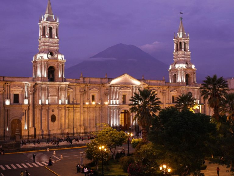 Arequipa at dusk