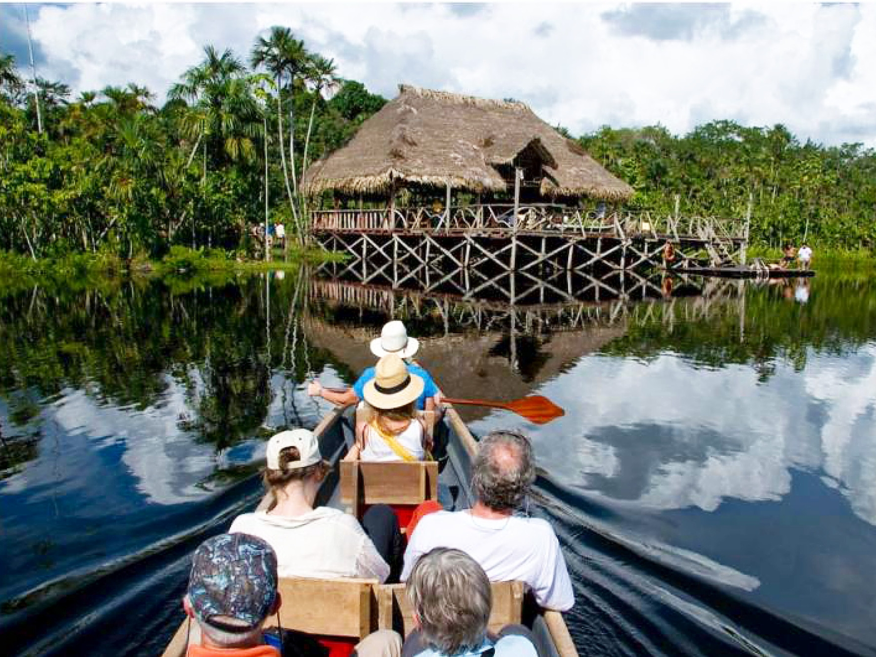 Family summer holiday in the Amazon